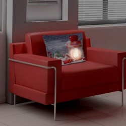Fata de perna decorativa LED felinar rosu