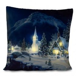 Fata de perna decorativa LED peisaj de iarna